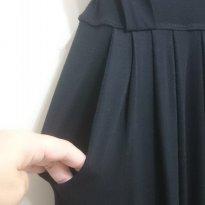 Calça pantalona cos largo preta - M - 40 - 42 - Não informada