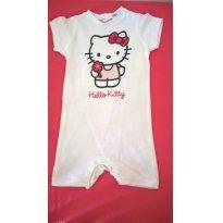 Macaquinho/pijama Hello Kitty - 12 a 18 meses - H&M e Sanrio