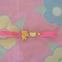 Cinto rosa com elástico - Sem faixa etaria - Sem marca