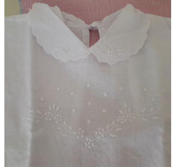 Blusinha pagão branca - 3 meses - Feito à mão