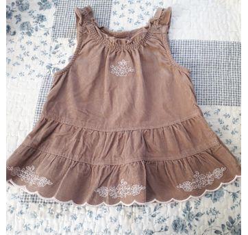 Combo vestido e 1 par de pantufas - 0 a 3 meses - Dedeka e Miniwear- USA