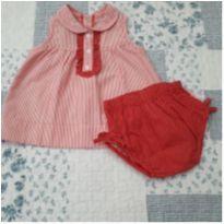 Vestidinho com tapa fralda - 3 meses - Keko Baby