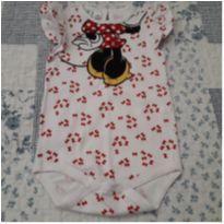 Body estiloso Minnie - 0 a 3 meses - Disney baby