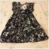 Vestido floral - 3 a 6 meses - polegar