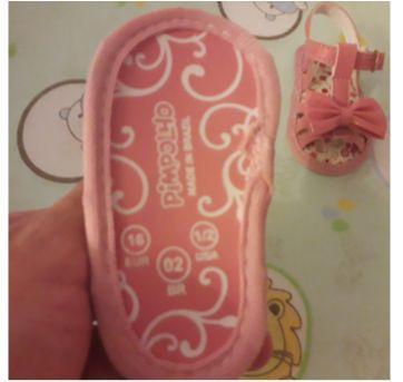 Sandália rosa com lacinhos - 14 - Pimpolho