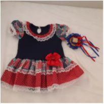 Vestido/Body festa junina ( De brinde vai a faixinha de cabelo) - 6 a 9 meses - Star Baby