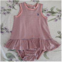 Vestido/body Ralph Lauren - 3 a 6 meses - Ralph Lauren