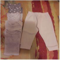 Combo 4 bodies e 1 calça - 3 meses - Carter`s e Club B