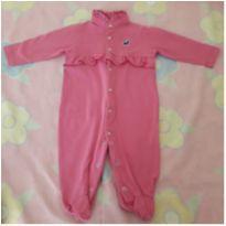 Macacão rosa com babados - 3 meses - Miss Floor
