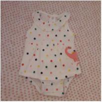 Vestido body bolinhas coloridas - 6 meses - Carter`s