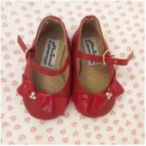 Sapato vermelho lacinho. Em couro. - 15 - Mariana Lorenzzo