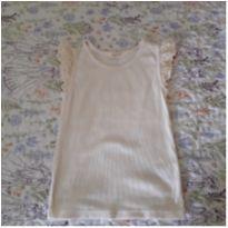 Regatinha off-white com lese - 3 anos - Baby Gap