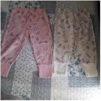 Dupla calças de pijama pezinhos reversíveis - 6 a 9 meses - Chacabru