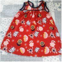 Vestido flores - 6 a 9 meses - Rovitex Baby