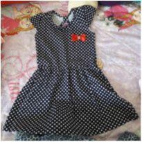 Vestido azul marinho de bolinhas e lacinho - 4 anos - Bju Baby