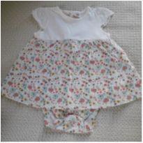 Vestido body floral - 6 a 9 meses - Teddy Boom