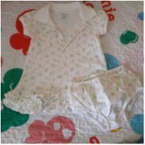 Vestido mini flores e babadinhos Ralph Lauren - 6 meses - Ralph Lauren