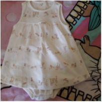 Vestido body bichinhos - 6 a 9 meses - BIBE