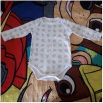 Body manga longa carneirinhos - 6 a 9 meses - Alô bebê