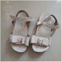 Sandália couro lacinhos - 24 - Pampili