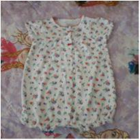 Macaquinho/Romper floral - 9 meses - Carter`s