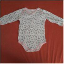 Body manga longa flores - 9 a 12 meses - Alô bebê