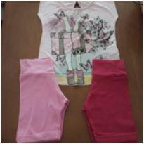 Combo 1 blusinha e 2 shortinhos - 3 anos - Rovitex Kids e Outra