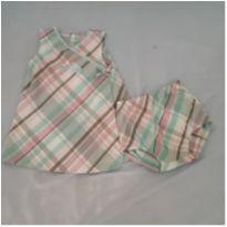 Vestido trapézio com tapa fralda - 1 ano - Carter`s