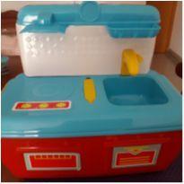 Mini cozinha portátil com acessórios