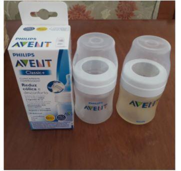 Combo 4 mamadeiras clássicas  Avent sem bicos ( 2 de 125 ml e 2 de 260 ml). - Sem faixa etaria - Avent Philips