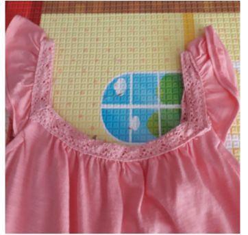 Vestido rosa pêssego - 3 anos - Poim