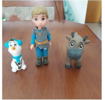 Trio de bonecos Disney Frozen - Sem faixa etaria - Disney