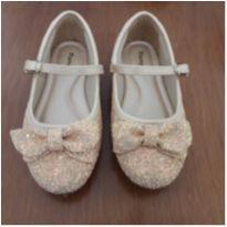 Sapato com glitter amarelo claro e laços Pampili - 24 - Pampili