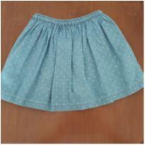 Saia-short tipo jeans Carter`s - 4 anos - Carter`s