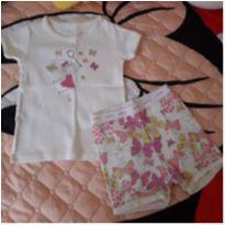 Pijama borboletas Baby Gap (12 a 18 meses) - 12 a 18 meses - Baby Gap