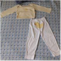 Conjunto/pijama manga longa patinho Carter`s (18 meses) - 18 meses - Carter`s