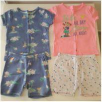 Kit 2 pijamas Carter`s azul e rosa (18 meses) - 18 meses - Carter`s