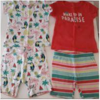 Kit 2 pijamas Carter`s coloridos (18 meses) - 18 meses - Carter`s