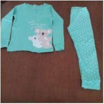 Pijama manga longa verde claro coala Carter`s (5 anos) - 5 anos - Carter`s