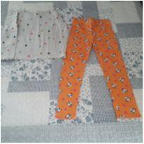 Conjunto blusa manga longa H&M e calça Gymboree (5 anos) - 5 anos - Gymboree e H&M