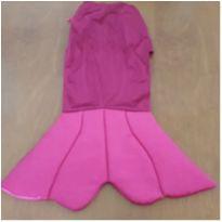 Fantasia saia rabo de sereia bebê (Veste 1 e 2 anos) - 12 a 18 meses - Feita por Costureira