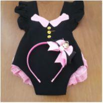 Fantasia menina bebê  Mundo Bita. Acompanha arco. (18 a 24 meses) - 18 a 24 meses - Borboletinha Kids