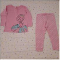 Pijama manga longa rosa bailarina Carter`s (18 a 24 meses) - 18 meses - Carter`s