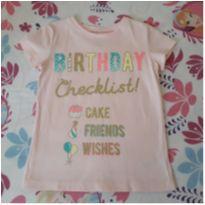 Blusa rosa bebê Carter`s (4/5 anos) - 4 anos - Carter`s