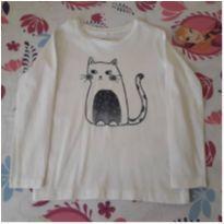Blusa manga longa gatinho (5 anos) - 5 anos - Importada