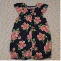 Macaquinho/Romper  floral Carter`s (18 a 24 meses) - 18 a 24 meses - Carter`s