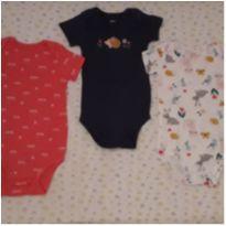 Kit 3 bodies coloridos Carter`s (18 meses) - 18 meses - Carter`s