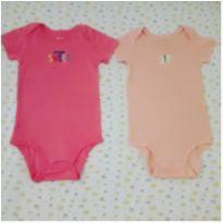 Kit 2 bodies rosa Carter`s (18 meses) - 18 meses - Carter`s