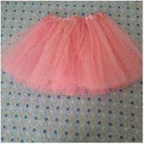 Saia tutu rosa com brilhos (5 anos) - 5 anos - Sem marca