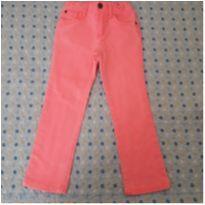 Calça de brim rosa flúor Carter`s (5 anos) - 5 anos - Carter`s